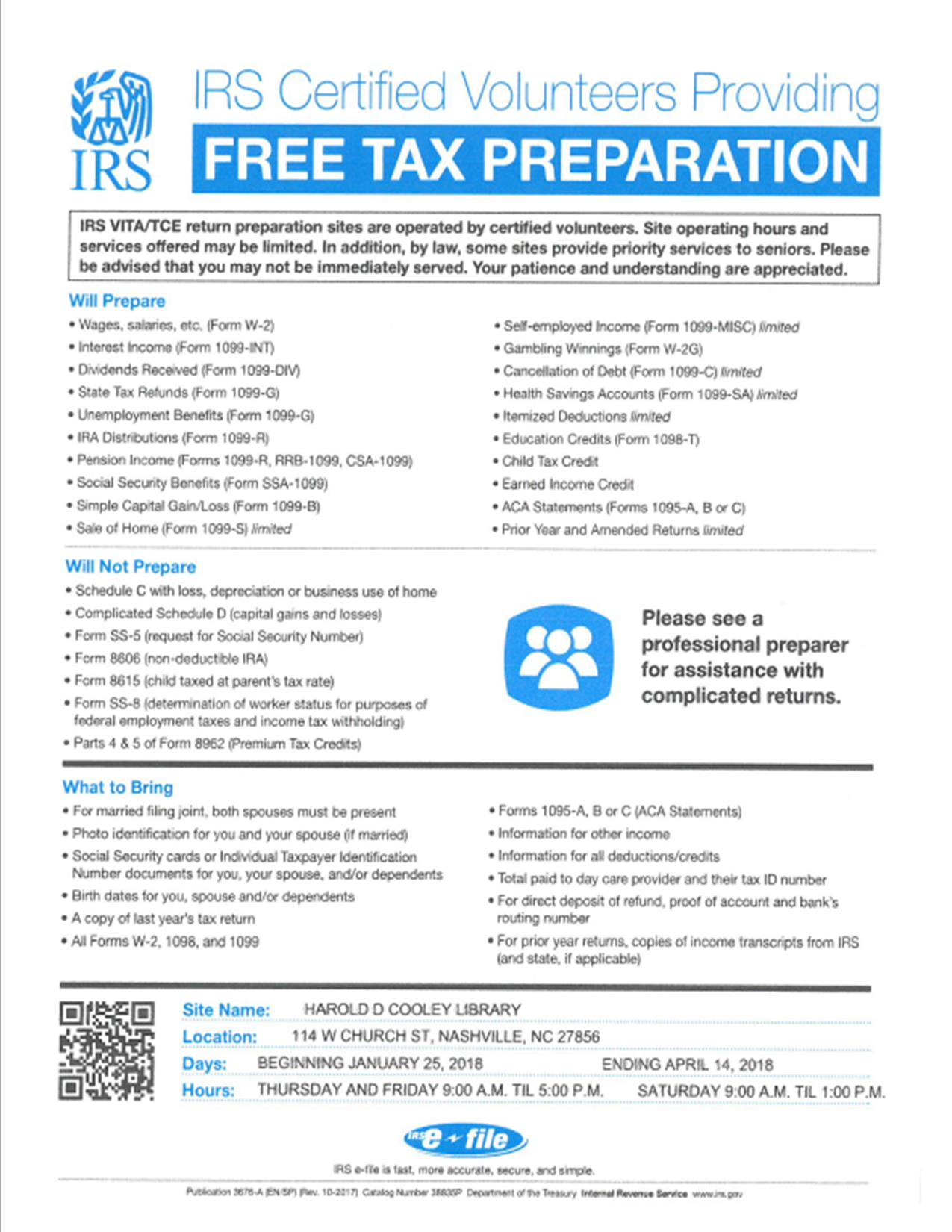 Last Day For Vita Tax Prep Master Events Calendar Nashville Nc