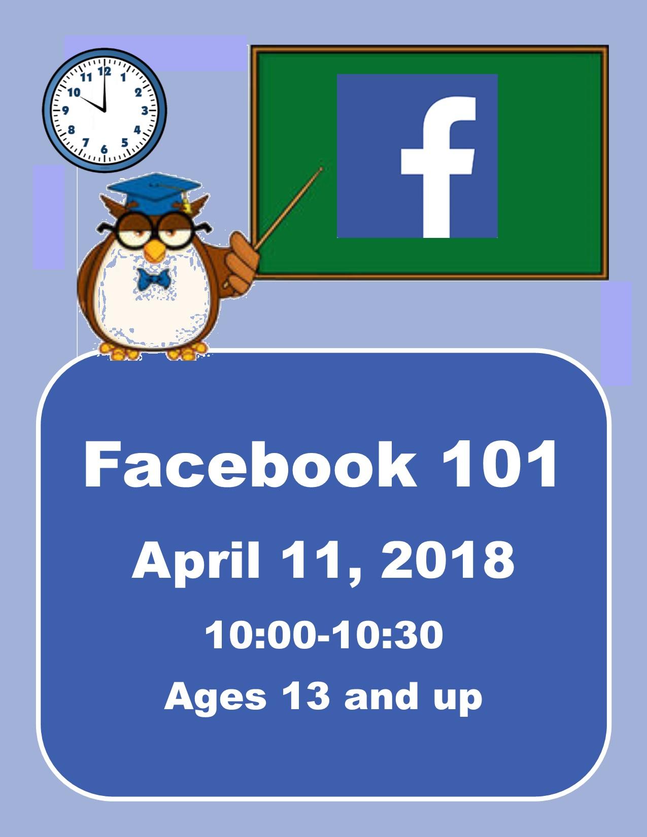 Facebook 101 | Master Events Calendar | Nashville, NC