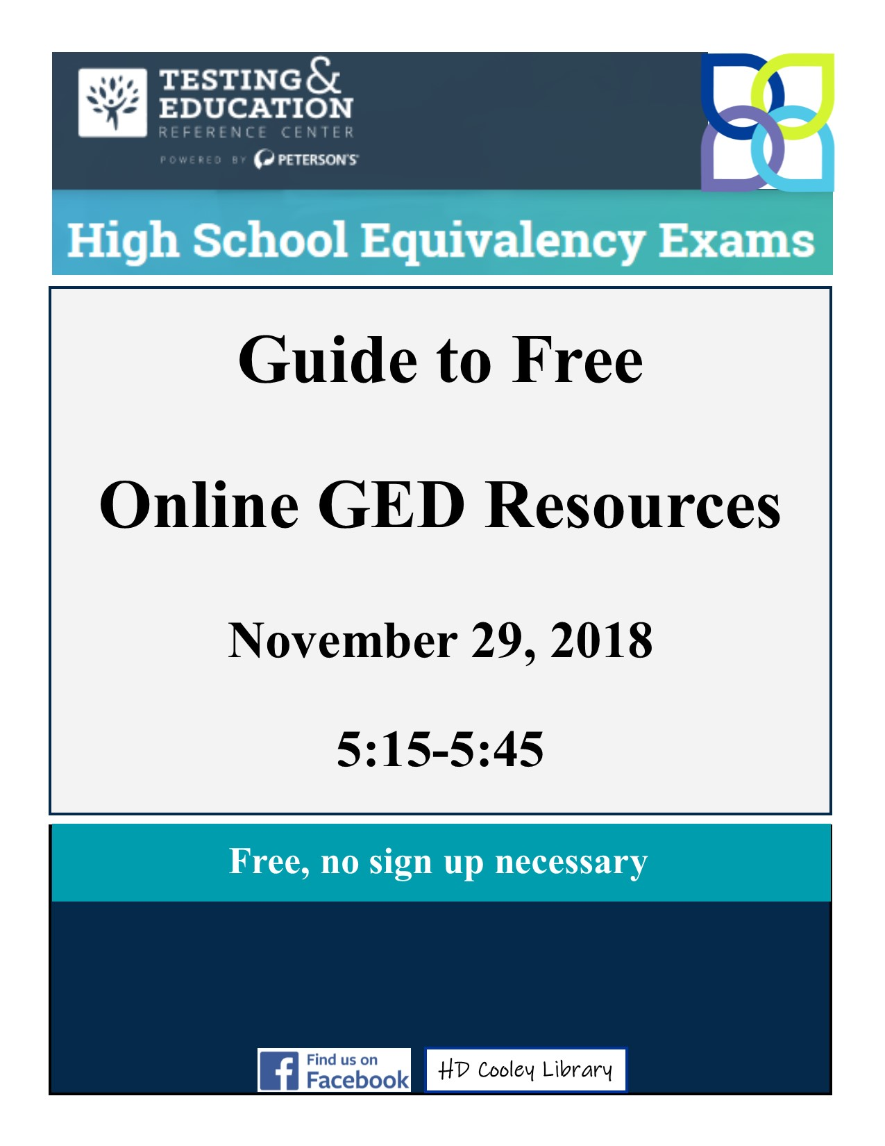 Guide to Free Online GED Resources class | Calendar Meeting List