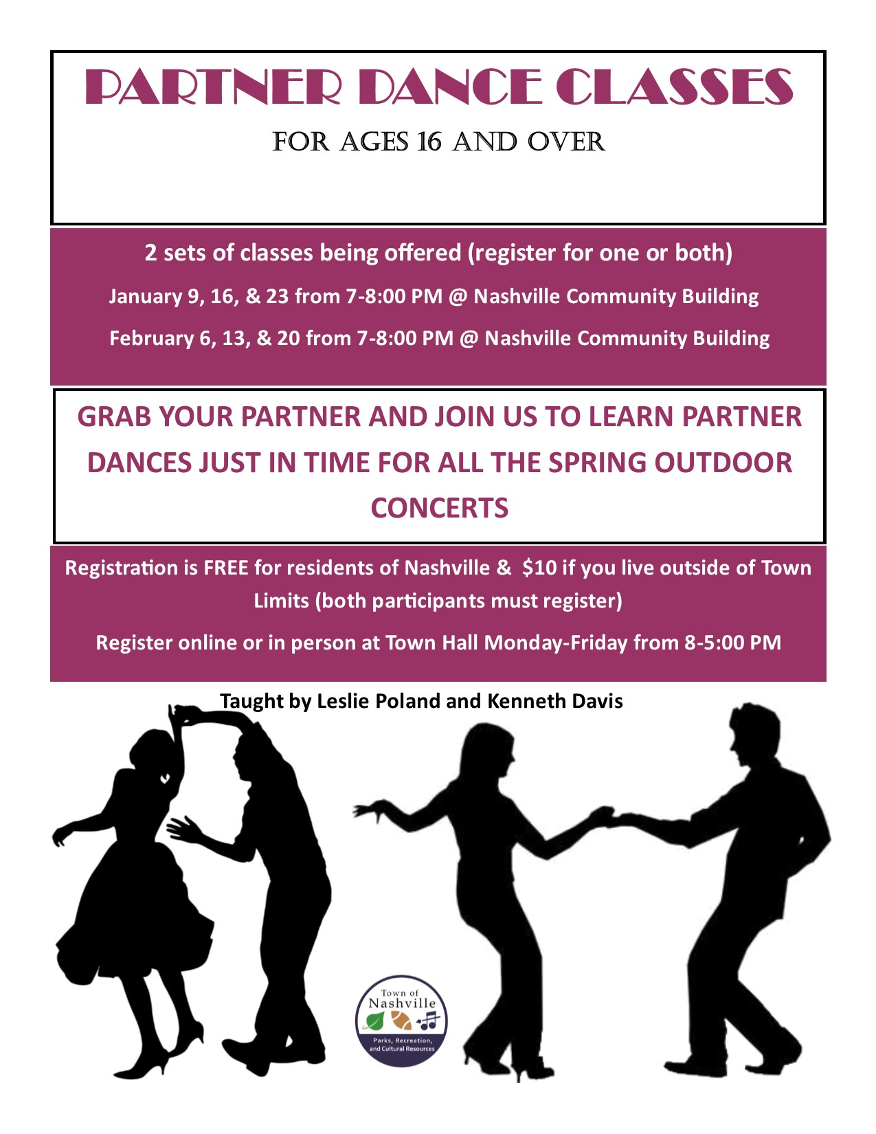 Partner Dance Class Flyer