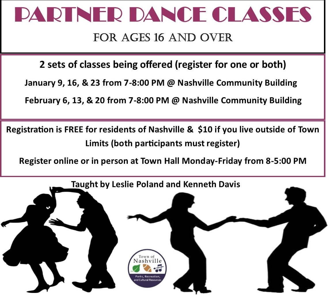 Partner Dance Classes Flyer