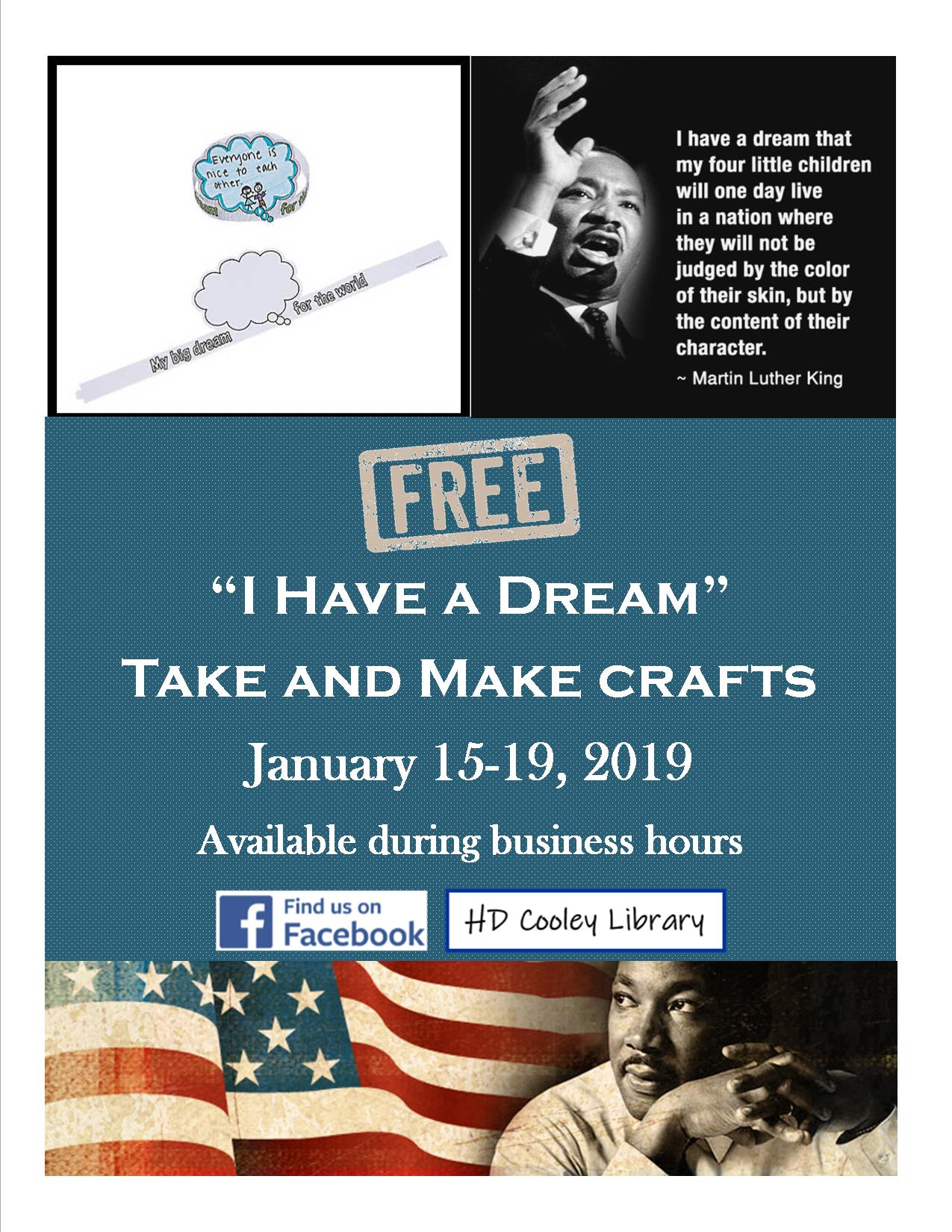 I Have a Dream Take and Make craft giveaway