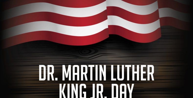 Dr. Martin Luther King Jr. Day with American Flag