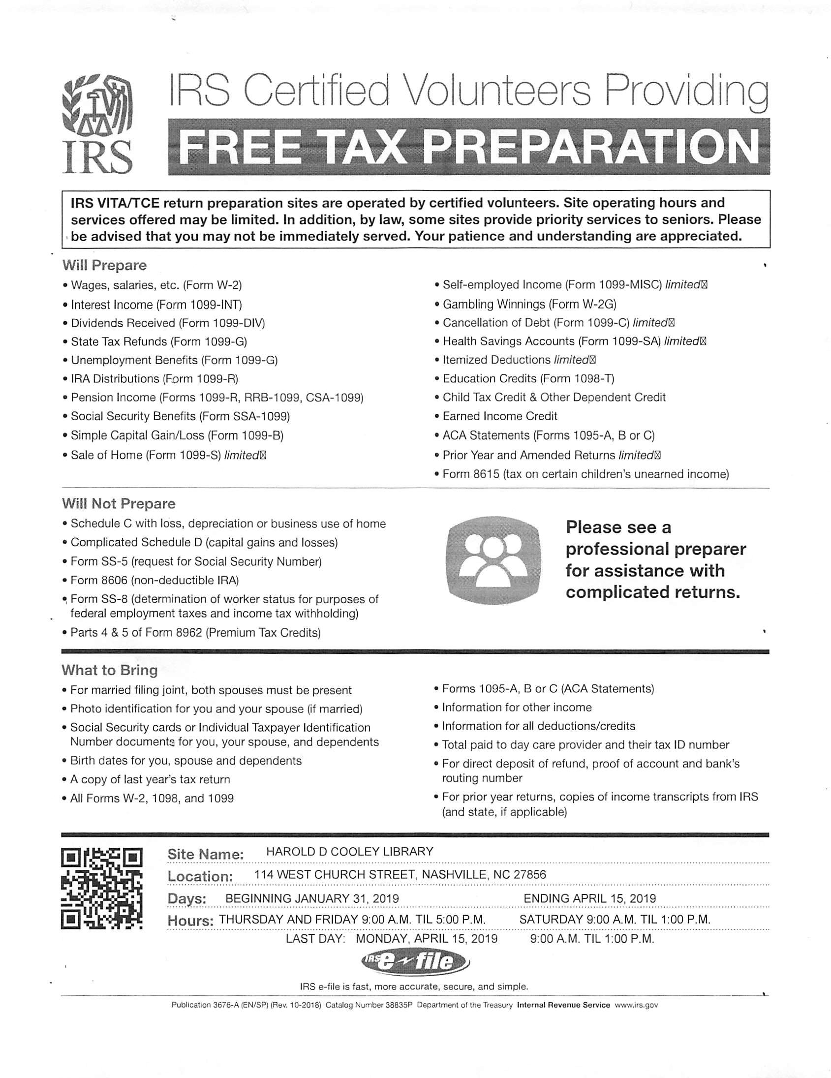 Vita Tax Preparation Class