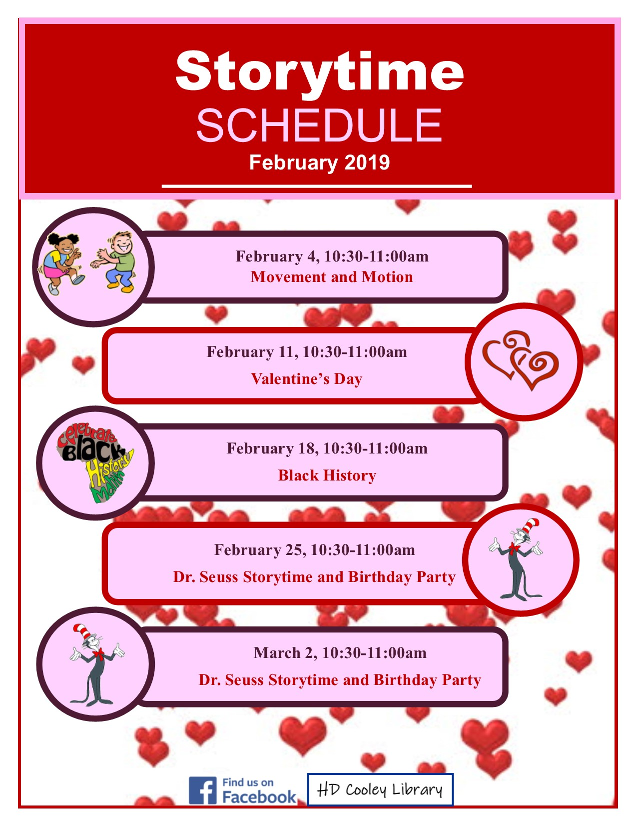 February Storytime themes