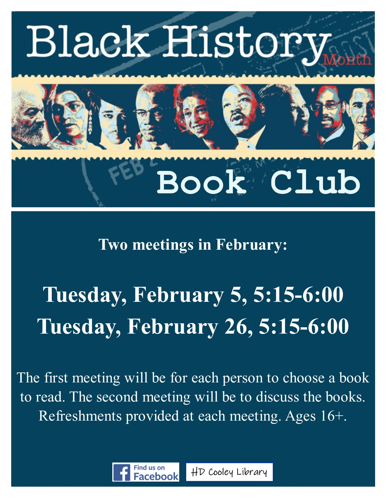 Black History Book Club meeting dates