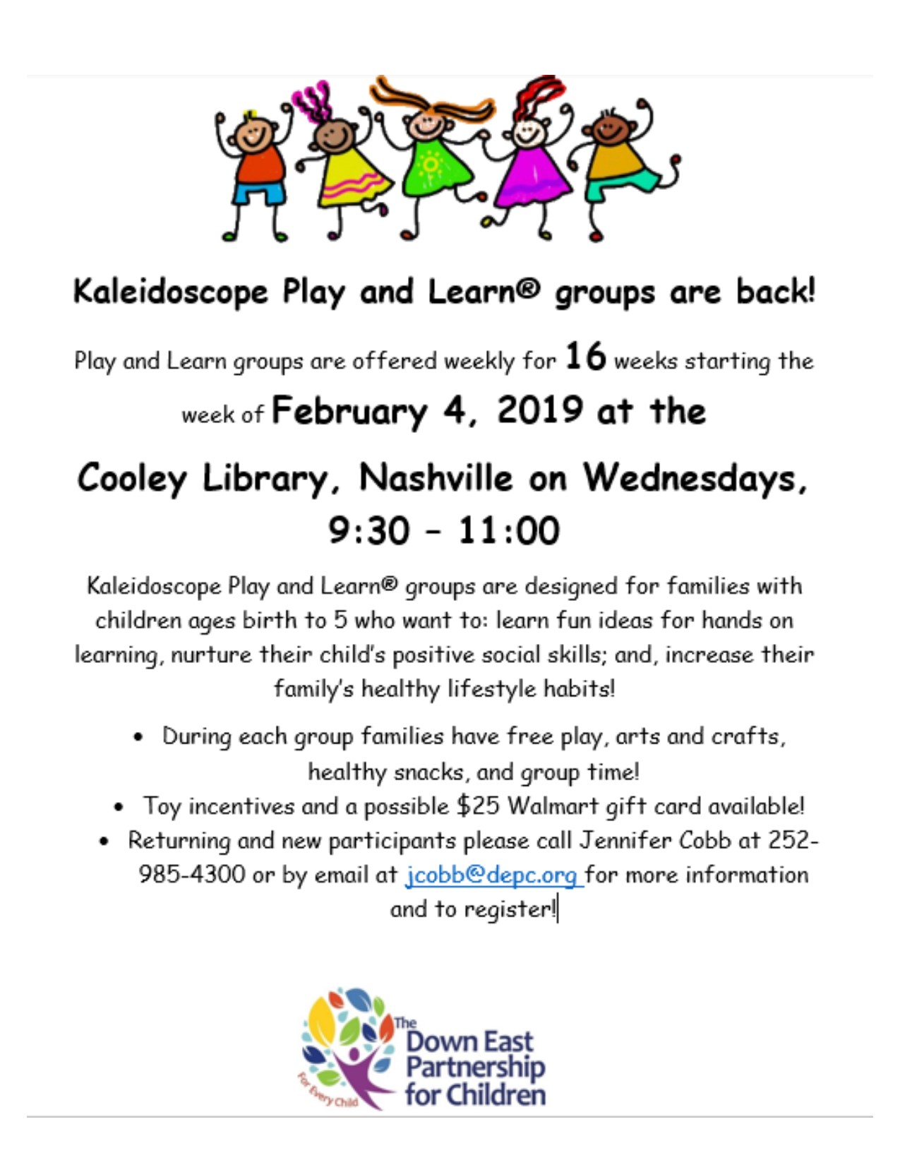 Kaleidoscope Play and Learn Playgroup information