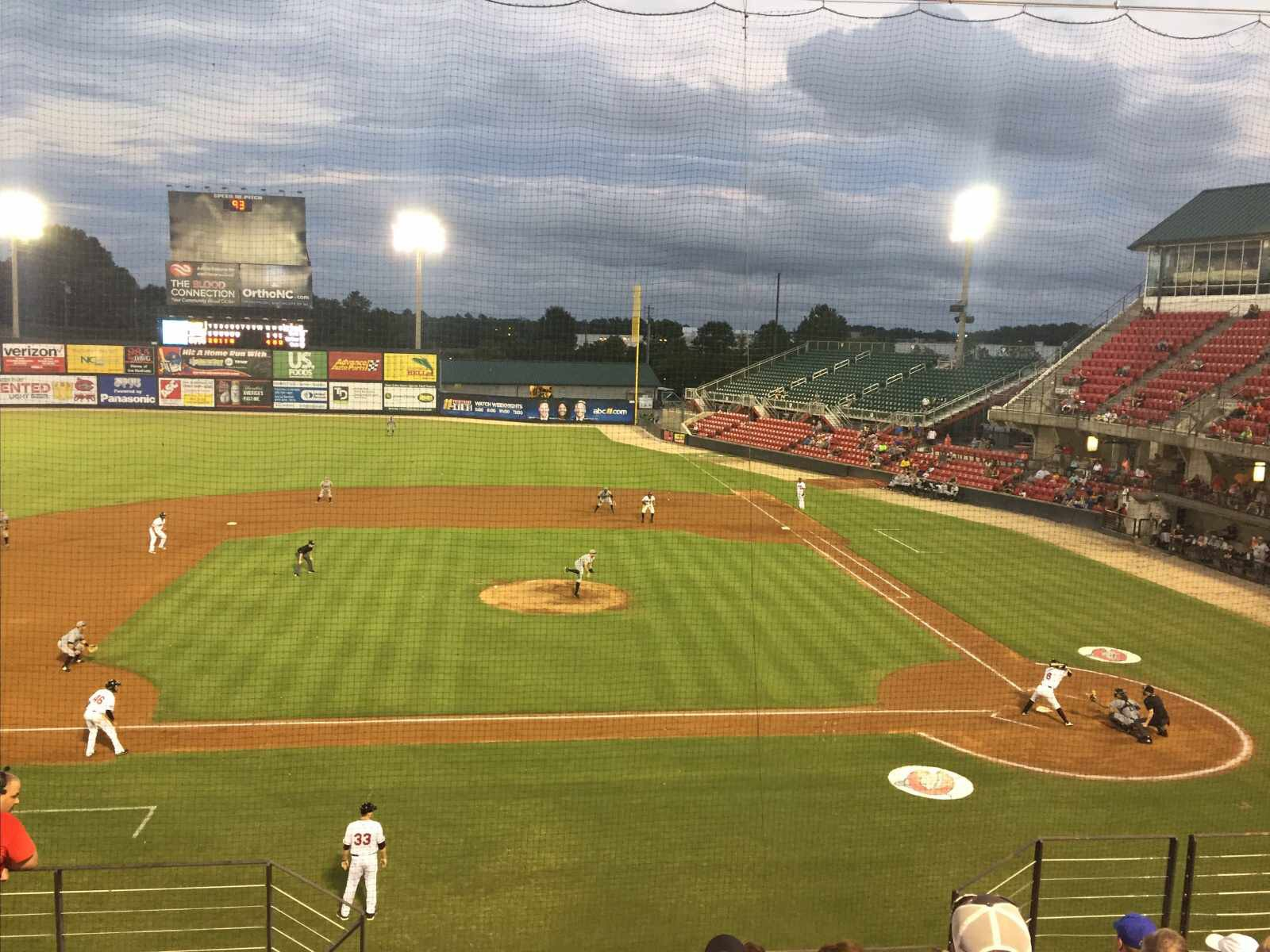 Mudcats Baseball Game at Five County Stadium