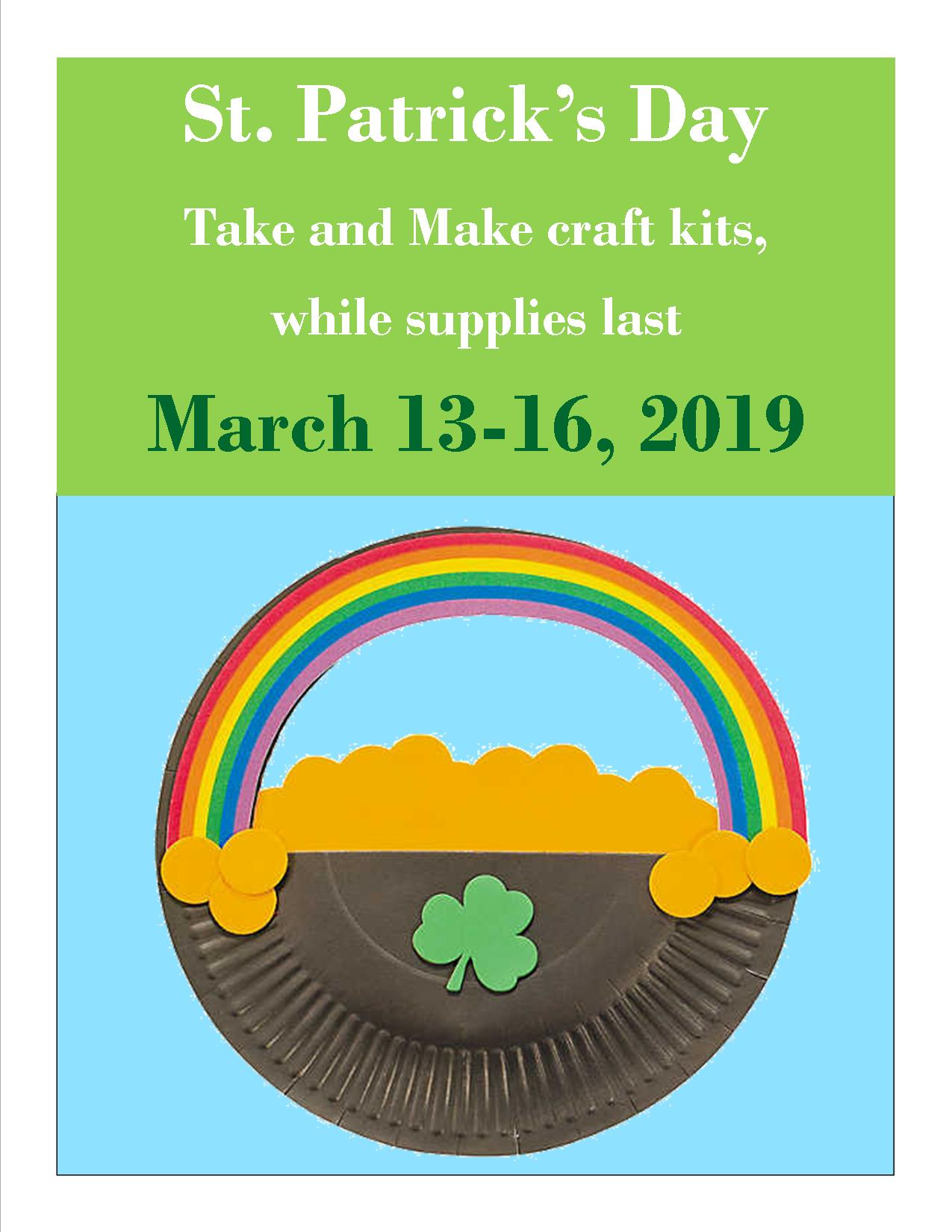 Picture of the St. Patrick's Take and Make craft