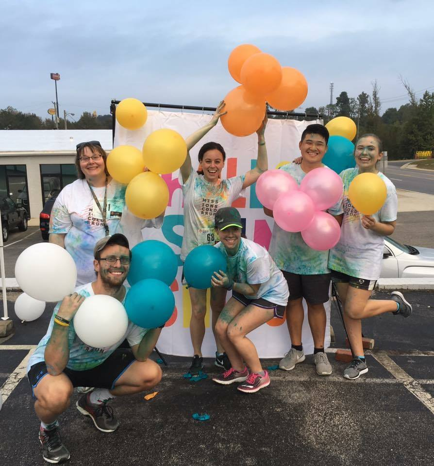 A group of people after the Color Run