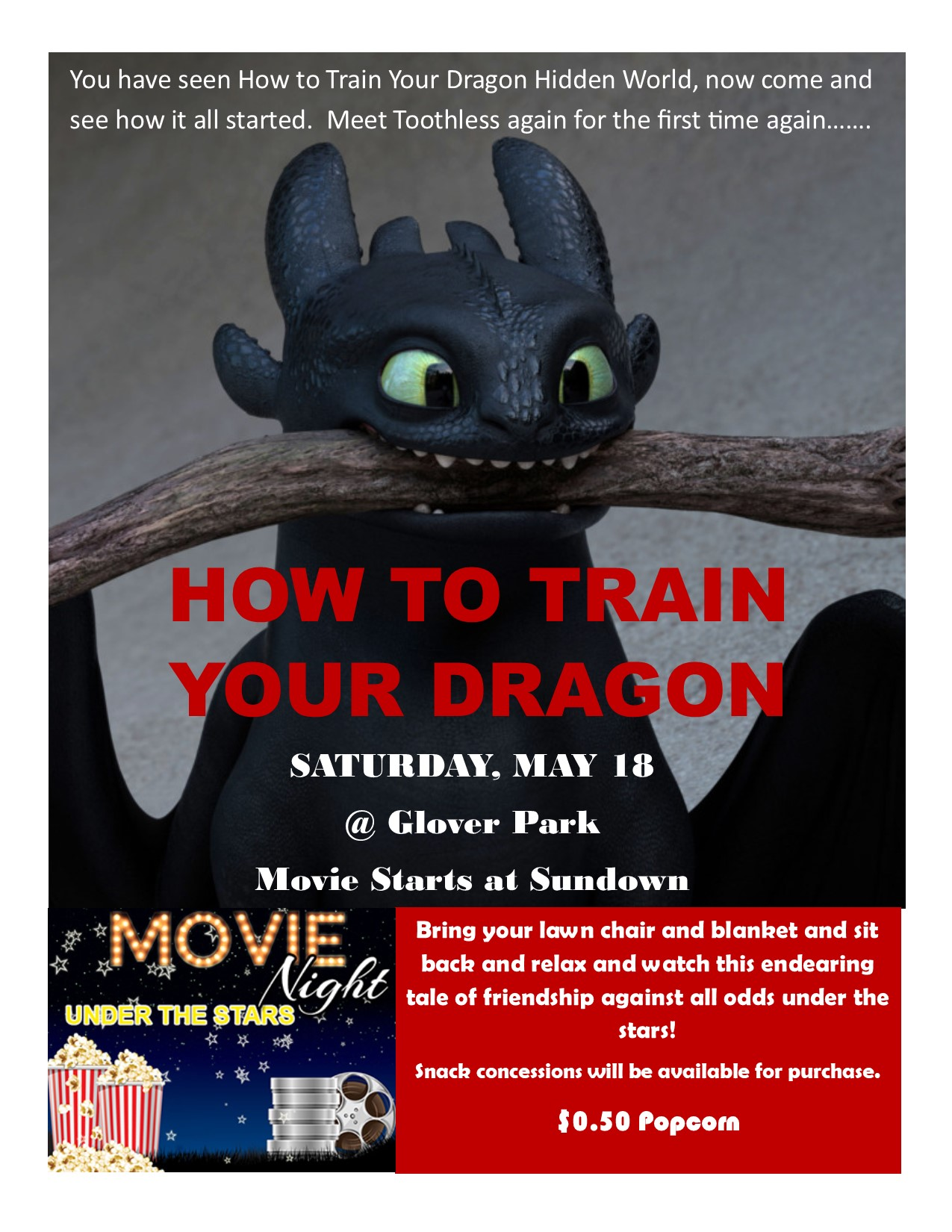 how to train your dragon movie flyer