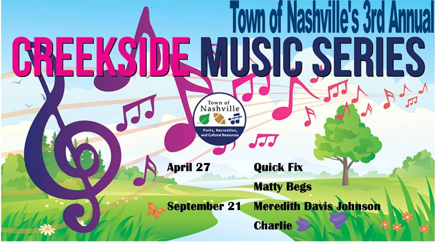Creekside Music Series Dates Flyer