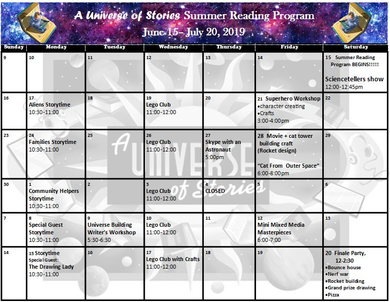 A Universe of Stories Summer Reading Program