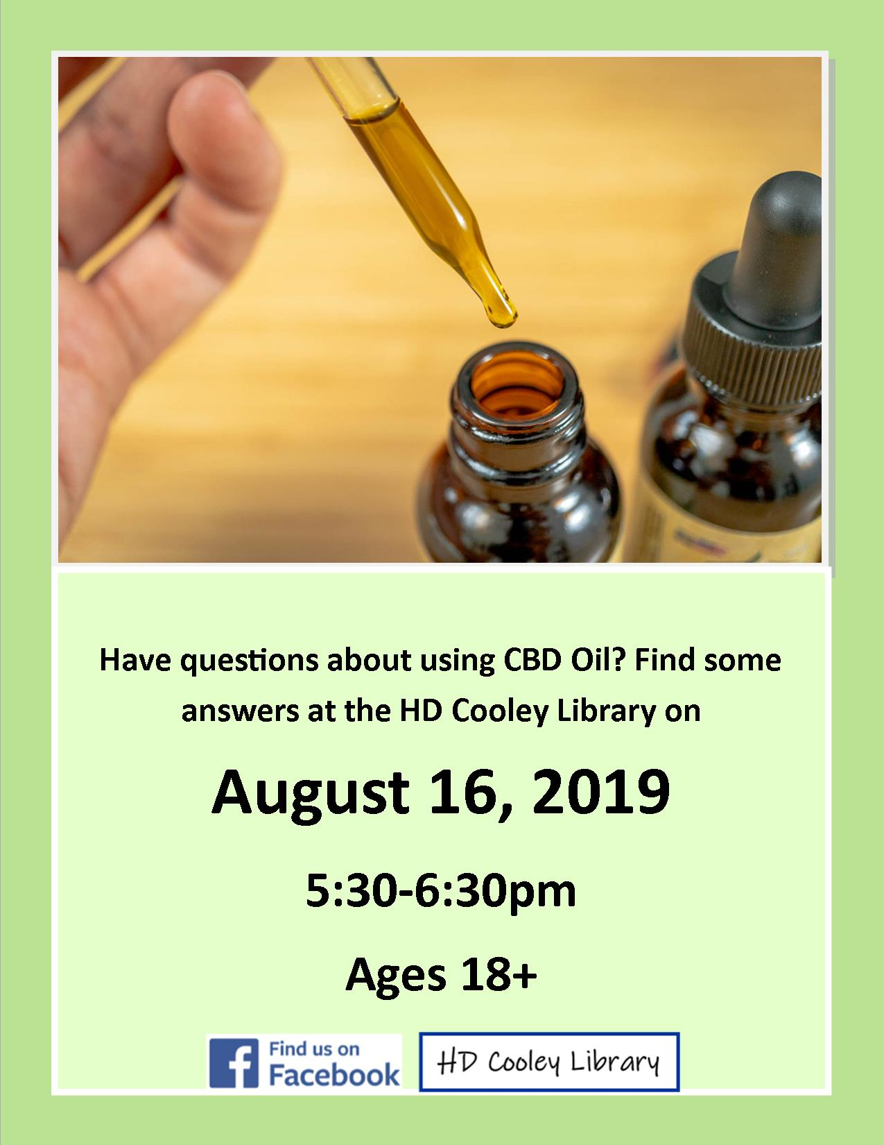 CBD Oil session date and time