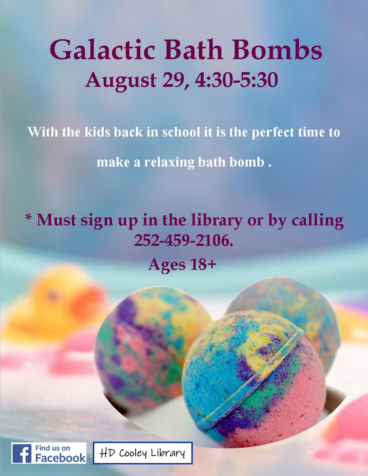 Bath Bombs class date and time