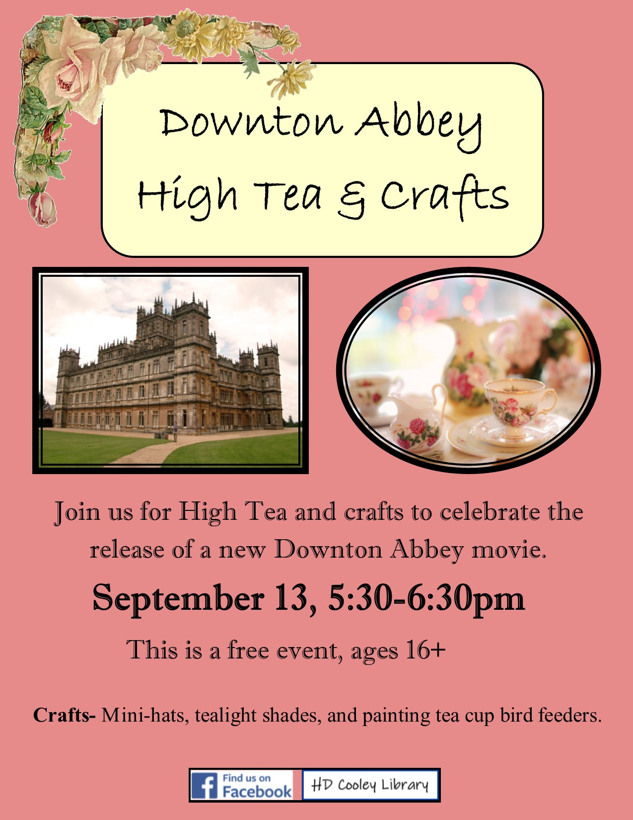 Downton Abbey Tea date and time