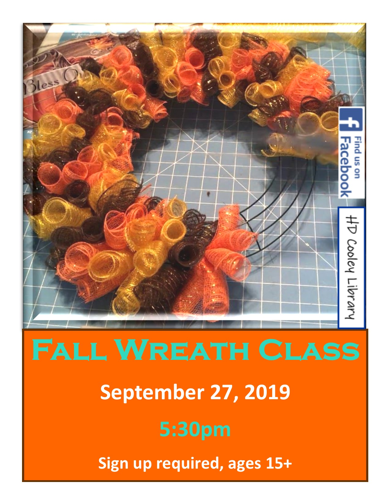 Fall Wreath class time and date