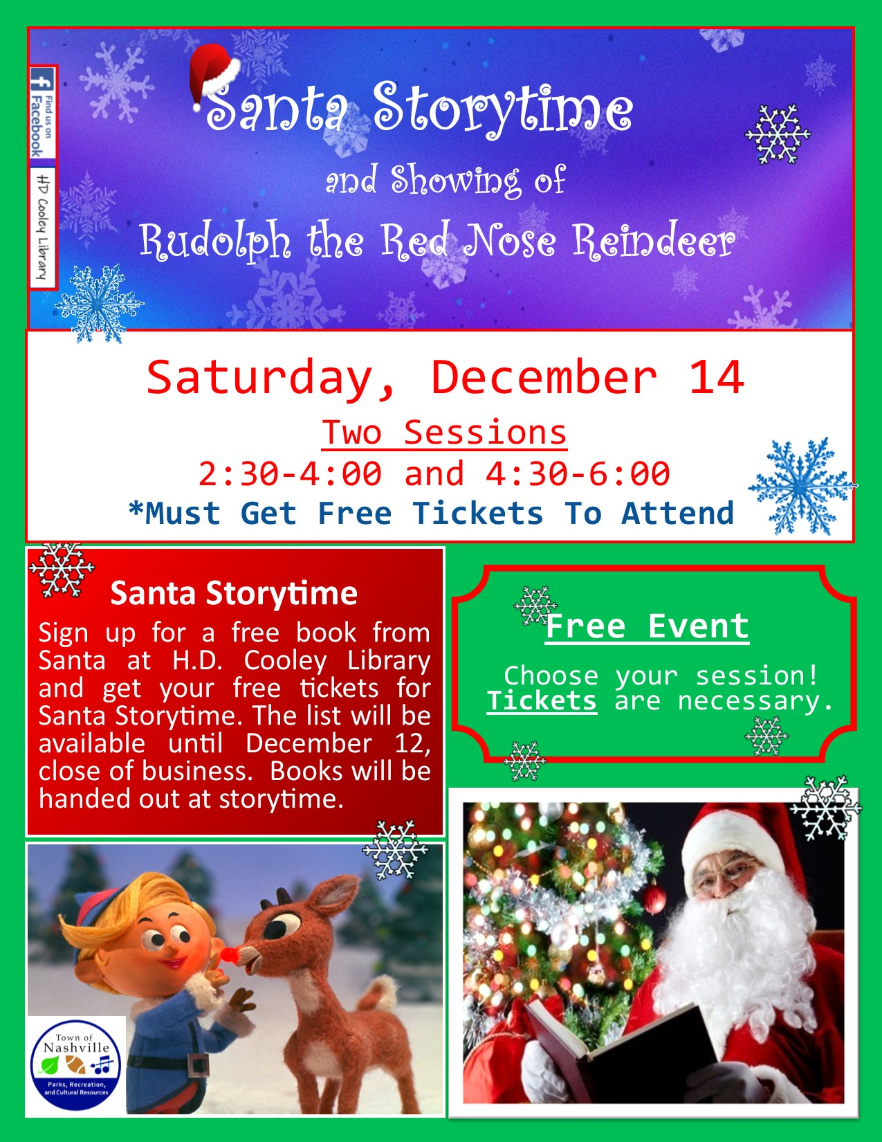 Santa Storytime and Rudolph The Red Nose Reindeer Movie