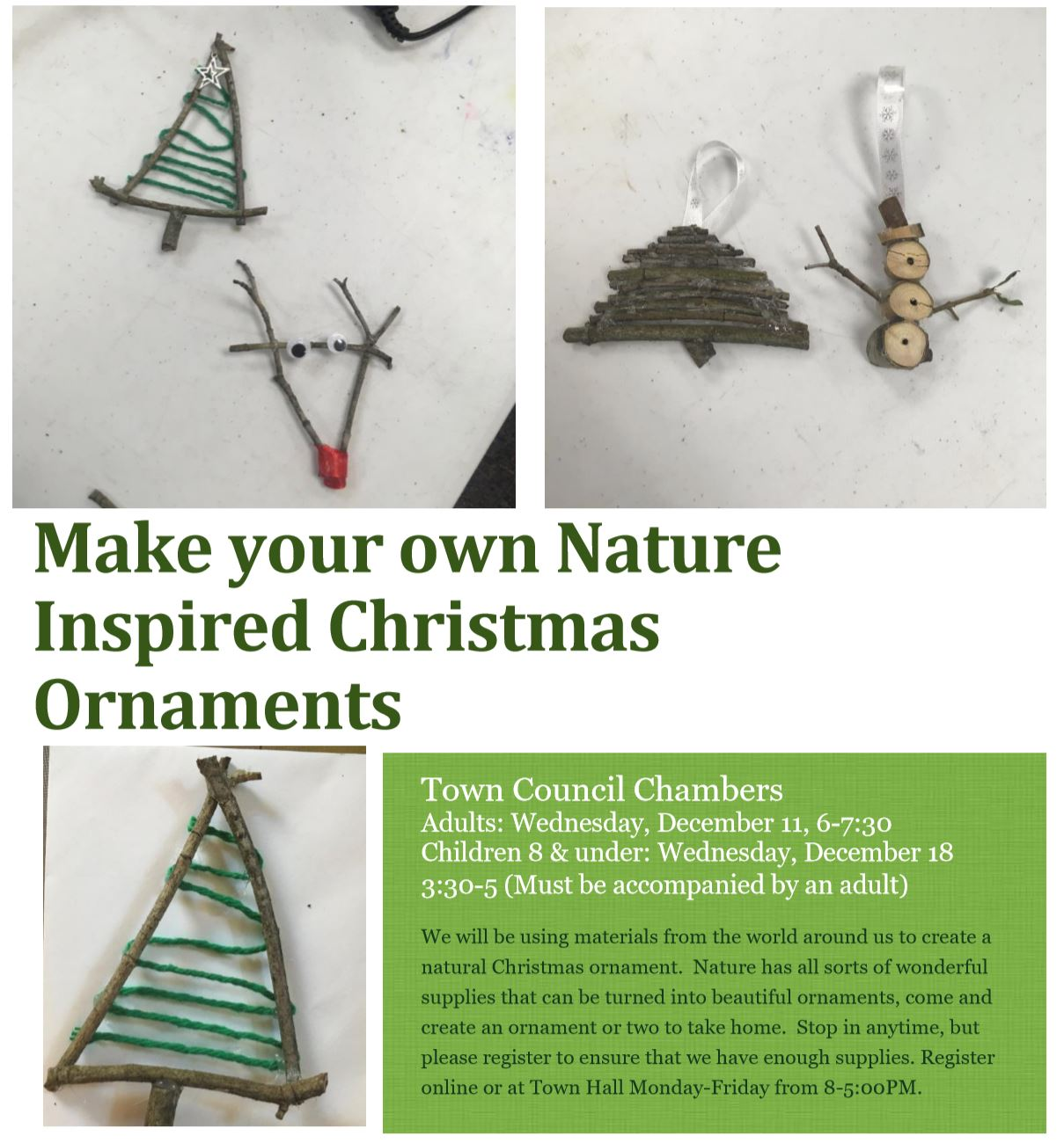 Kids Nature Ornament Class