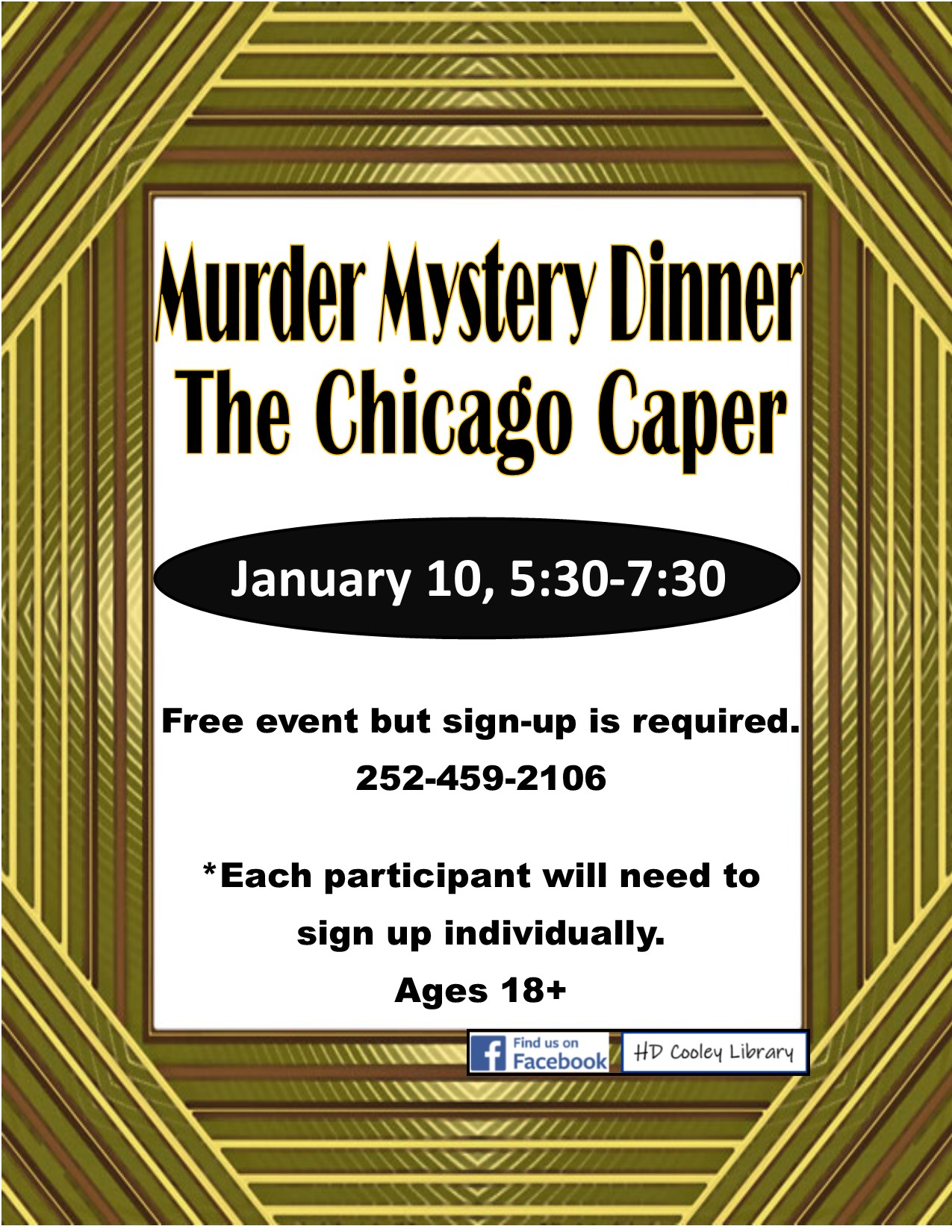 Murder Mystery Dinner Date and Time