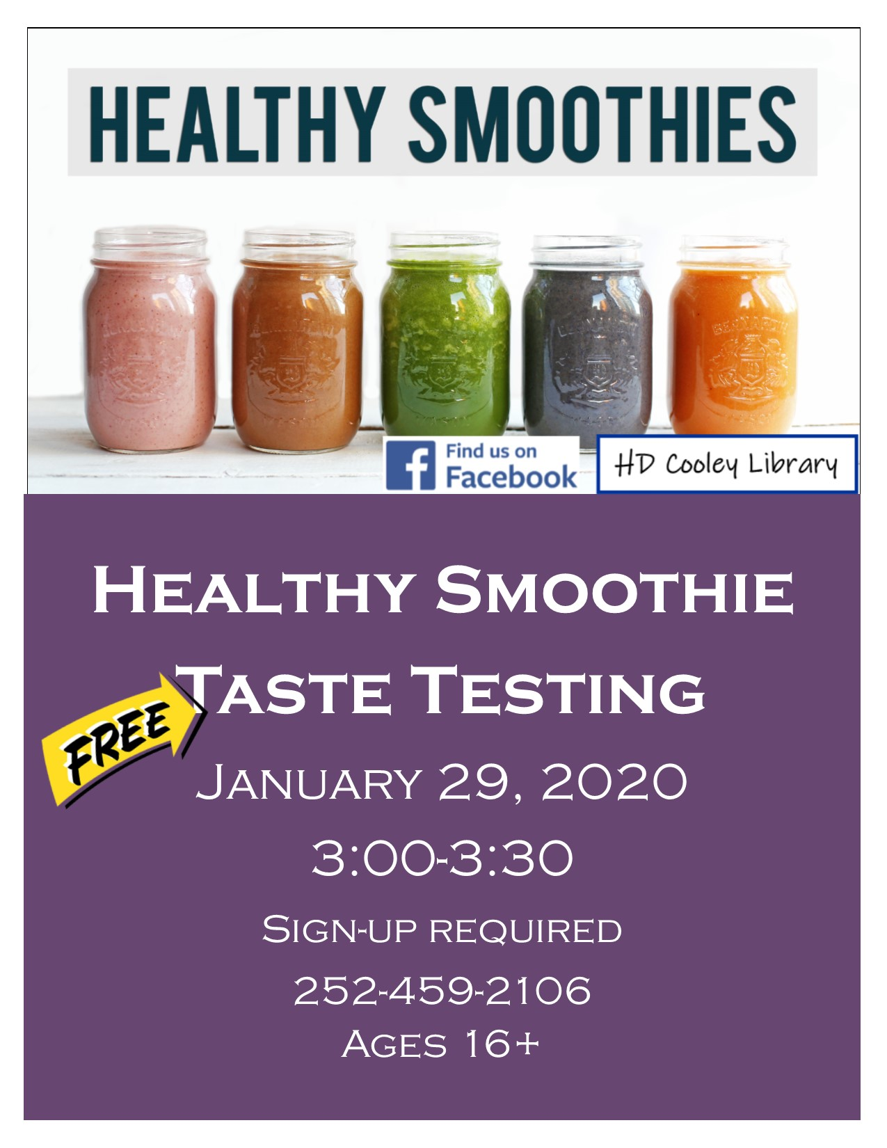 Smoothie taste testing date and time