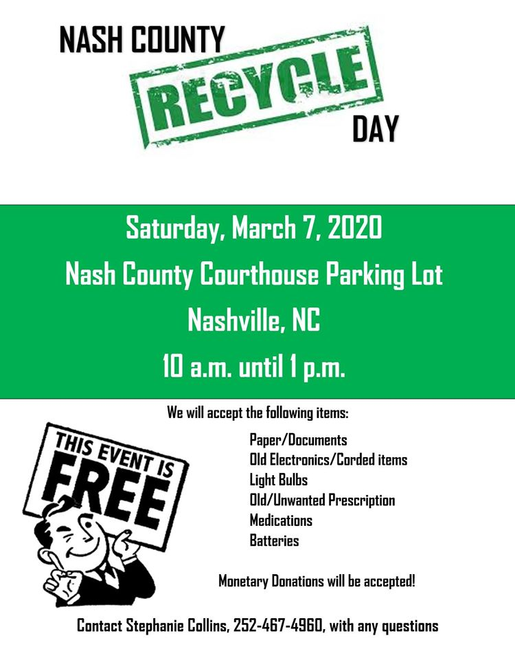 Nash County Recycle Day Flyer