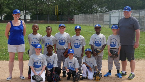 picture of rookie baseball team